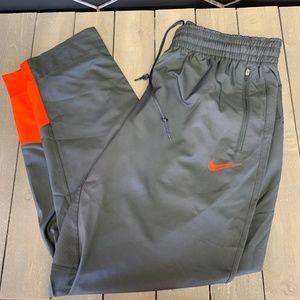 Mens Nike Basketball Dri-Fit Grey Orange Sweatpant
